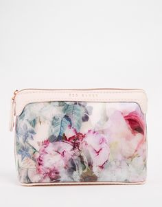 Ted Baker Pure Peony Triangle Small Makeup Bag