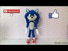 Eu Amo Artesanato: Sonic 2020 em Feltro com Molde e Passo a Passo Sonic The Hedgehog, Make It Yourself, Fictional Characters, Angel, Youtube, Japanese Doll, Baby Dolls, Characters, Party