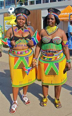 Zulu women supporting South Africa at the World cup 2010