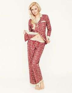 fafe2593b3 Mio Destino Frances Ruby Burst Cotton Pyjamas X-Large. Cosy ruby burst  pyjamas with a classic button front and stylish open collar. Rich floral  print with ...