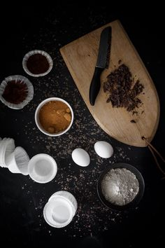 Sweet chocolate muffins have a crispy crust and soft texture inside. Luscious chocolate dough contains melted chocolate pieces. Enjoy with dark roasted coffee. Gluten-free, dairy-free, vegan and nut-free. Enjoy!