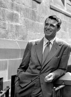 Cary Grant photographed in NYC by Ronny Jaques, 1949.