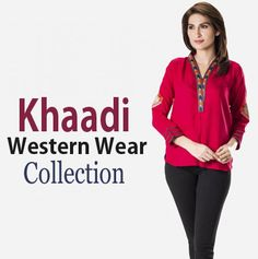 Khaadi Western Wear Collection 2015 http://fashiondesignslatest2012.blogspot.com/2015/01/khaadi-western-wear-collection-2015.html