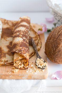 naleśniki kokosowe, coconut crepes #kokos #naleśniki #coconut #crepes