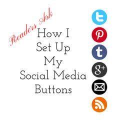 Readers Ask: How I Set Up My Social Media Buttons