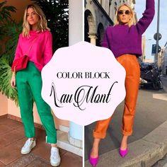 ¿QUÉ ES EL COLOR BLOCK? El Color Block es una tendencia que consiste en combinar dos o más prendas de colores llamativos en un mismo look. Para obtener un buen resultado, es importante tener en cuenta los siguientes tips al momento de elegir las prendas que vamos a combinar. Tips, Style, Fashion, Lets Go, Trends, Elegant, Swag, Moda, Fashion Styles