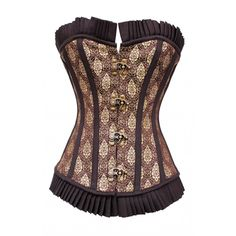 db295038025 CD-602 Burgundy Corset with Gold Damask Pattern (I just ordered this!)