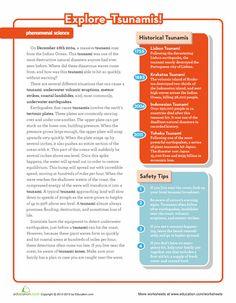 Worksheets: Tsunami Science