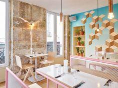 Cut Architectures infuses PNY -a burguer restaurant- in Paris with subtropical elements
