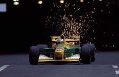 Michael Schumacher (GER) (Camel Benetton Ford), Benetton B192 - Ford HB 3.5 V8 (finished 4th) 1992 Monaco Grand Prix, Circuit de Monaco