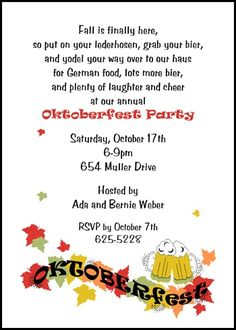 Creative and unique oktoberfest invitation wording from httpwww save a lot by reducing your cost on 2016 popular bier party oktoberfest invitations discounted to stopboris Images