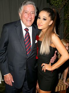 The Grammys Afterparties Were Just as Hot as the Show | TONY BENNETT & ARIANA GRANDE | at the Republic Records Grammy celebration at Hyde Sunset Kitchen & Cocktail.