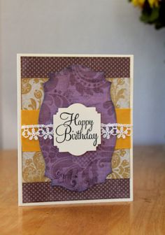 Happy Birthday Card Feminine Birthday Happy by MrsKristenCreations