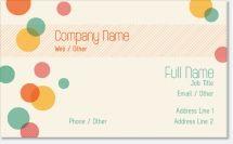 polka dots Premium Business Cards