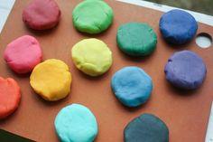 Pretty homemade play dough @Meghan Barnes