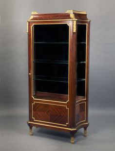 A Fantastic Late 19th Century Gilt Bronze Mounted Louis XVI Style Vitrine By Victor Raulin