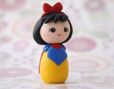 Snow White kokeshi doll  Made to order by Chikipita on Etsy, $17.00