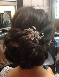 Romantic updo. By Danielle Goulet
