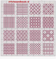 Broderie Bargello, Bargello Needlepoint, Needlepoint Stitches, Blackwork Embroidery, Cross Stitch Embroidery, Embroidery Patterns, Cross Stitching, Fair Isle Knitting Patterns, Knitting Charts