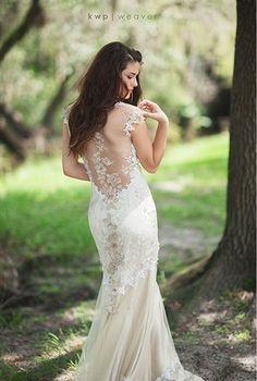 half backless wedding dress