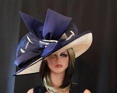 Derby B7 Ascot Violet Foncé Grand Ascot chapeau pour les Mariages