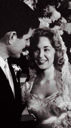 Nov 29, 1958 ~ Edward Kennedy Marries Joan Bennett At St Joseph's Church In Bronxville, NY