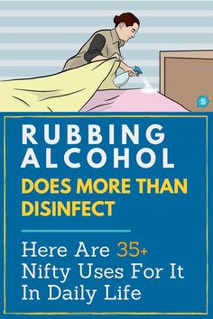 There are so many great uses for rubbing alcohol at home! It isn't just for cleaning and disinfecting, but it can be great for acne. Don't spend money on other things when rubbing alcohol will do the trick. These hacks are a must-read for everyone! House Cleaning Tips, Deep Cleaning, Spring Cleaning, Cleaning Products, Diy Home Cleaning, Bathroom Cleaning Hacks, Cleaning Recipes, Whatsapp Tricks, Clean Baking Pans