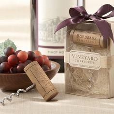 Creative Wedding Favor Ideas from Beau-coup: Vineyard Wine Cork Corkscrew Favor. To see more: http://www.modwedding.com/2014/06/09/creative-wedding-favors/ #wedding #weddings #weddingfavor