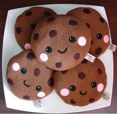 My Cute Christmas - Super Cute Kawaii! Food Pillows, Cute Pillows, Diy Pillows, Kawaii Crafts, Kawaii Diy, Kawaii Cute, Kawaii Cookies, Softies, Food Kawaii