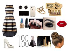 """Special Occasion 100"" by puddles-6 ❤ liked on Polyvore featuring Dsquared2, Balmain, Kylie Cosmetics, Anzie, Irene Neuwirth, Lime Crime, Too Faced Cosmetics and Yves Saint Laurent"