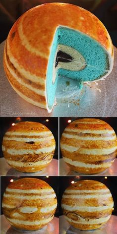 Jupiter cake. Certainly one of our kids would love this for a planetarium birthday party.