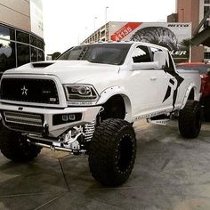 big trucks and girls Lowered Trucks, Jacked Up Trucks, Dodge Trucks, Jeep Truck, Cool Trucks, Pickup Trucks, Dodge Cummins, Lifted Chevy, Cummins Girl