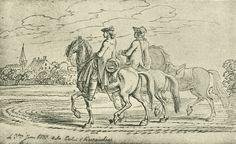 Chodowiecki, Bei Werneuchen (Danziger Skizzen, 1773).