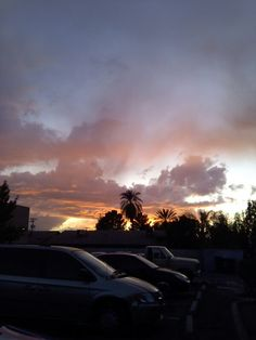 Beautiful sunset in Mesa area