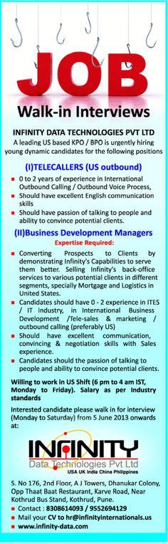 new job vacancy business development managers job vacancy in infinity india has been - Sarah Connor Lebenslauf