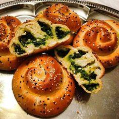 Rezept Spinat-Feta Schnecken von Kochspaßfee - Rezept der Kategorie Backen herzhaft