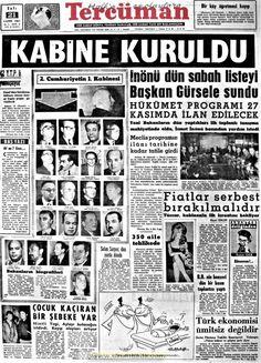 Tercüman gazetesi 21 kasım 1961