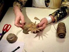 Diy Burlap Flowers, Simple Step By Step - Diy Crafts Jute Flowers, Paper Flowers Craft, Flower Crafts, Twine Crafts, Yarn Crafts, Decor Crafts, Diy Arts And Crafts, Diy Craft Projects, Diy Crafts