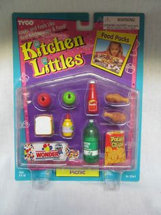 BRAND NEW 1995 BARBIE TYCO KITCHEN LITTLES PICNIC FOOD PACKS | eBay