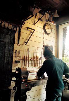 Workshop of Tokuhiko Kise of Truck Furniture