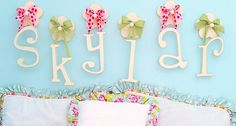 Hanging Wooden Letters for Nursery by New Arrivals Bedding at AnnaBean.com