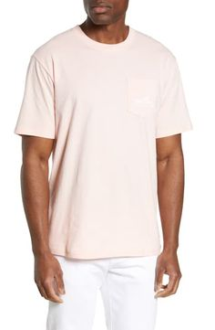 Men's Southern Tide Retro Original Skipjack Pocket T-Shirt, Size XX-Large - Pink Southern Tide, Cut Shirts, Nordstrom, Mens Fashion, Pocket, The Originals, Retro, Mens Tops, Pink