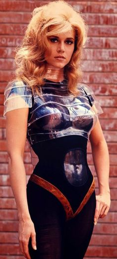 Jane Fonda in Barbarella (1968). Costume Designers: Jacques Fonteray and Paco Rabanne
