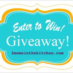 Here we go again.....2 MOMs in the kitchen GIVEAWAY!!!! Starting tomorrow April 5th and ending Sunday April 13th enter daily for a chance to...