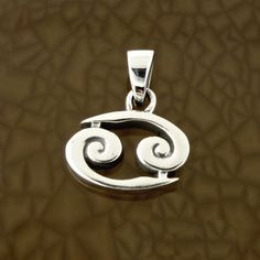Cancer-Zodiac-Symbol-Pendant-in-Solid-Sterling-Silver-Symbolic-Charm