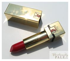 Yves Saint Laurent Fall 2012 Rouge Pur Couture The Mats in 203 Rouge Rock ~ Click thru for swatches of this radiant (yes radiant!) matte!
