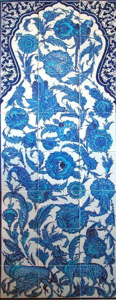 Topkapı Palace Museum Blue and White Polychrome Turkish Iznik Tile Turkish Tiles, Turkish Art, Islamic Tiles, Islamic Art, Tile Art, Mosaic Art, Persian Blue, Moorish, Tile Patterns