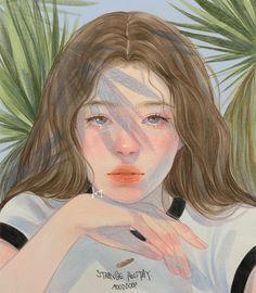 Aesthetic Drawing, Aesthetic Anime, Aesthetic Art, Dark Art Drawings, Beautiful Drawings, Digital Portrait, Portrait Art, Japon Illustration, Art Alevel