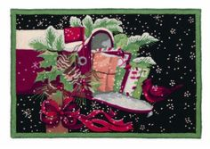 Christmas Snow Gifts Hooked Rug - Susan Winget - Peking Handicraft