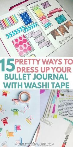 15 Creative Bullet Journal Washi Tape Ideas that STICK OUT Washi tape is one of the greatest planner organization accessories ever! See these bullet journal washi tape ideas that not only make your bujo look good, but be functional as well. Uses for washi Bullet Journal Washi Tape, Bullet Journal Ideas, Organization Bullet Journal, Bullet Journal Banner, Bullet Journal Layout, Bullet Journal Inspiration, Bullet Journals, Smash Book Inspiration, Journal Guide